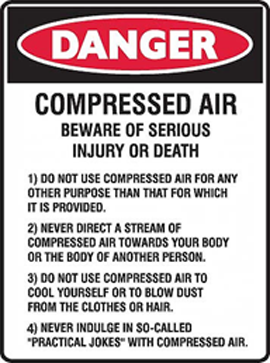 Dangers Of Compressed Air